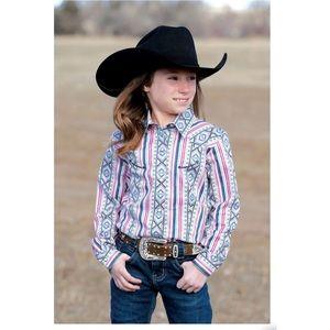 Cruel Girls Serape Print Western Shirt